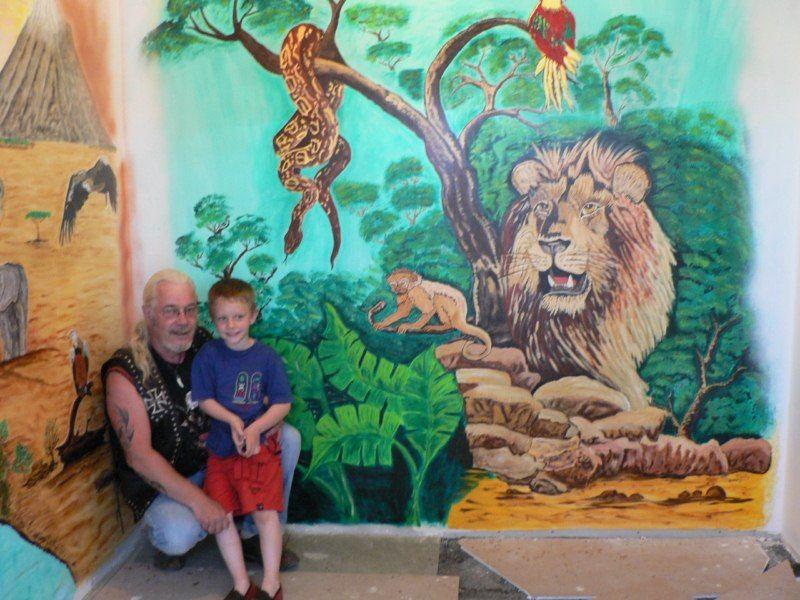 Ma peinture sur mur de chambre d 39 enfant for Peinture murale enfant